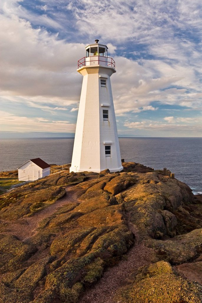 Stock Photo: 1990-37738 Light House at Cape Spear National Historic Site, Newfoundland and Labrador, Canada.