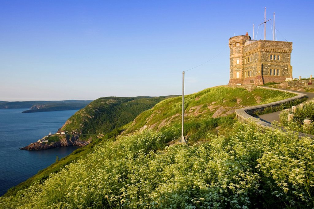 Stock Photo: 1990-38091 Cabot Tower on Signal Hill National Historic Site, St. John´s, Newfoundland and Labrador, Canada.