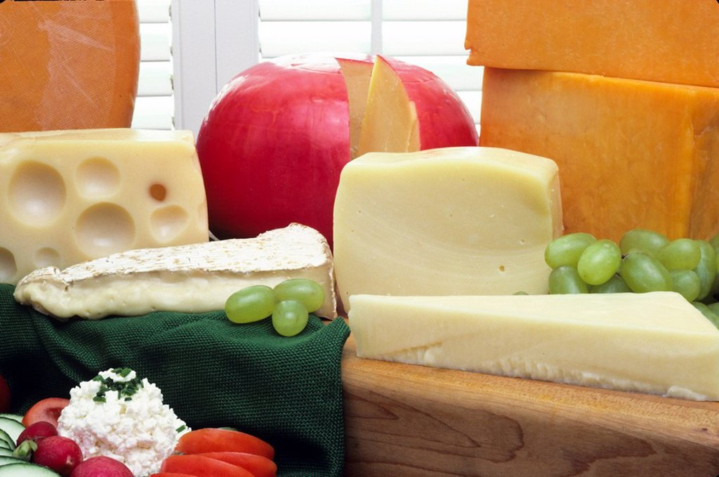 A selection of cheese. : Stock Photo