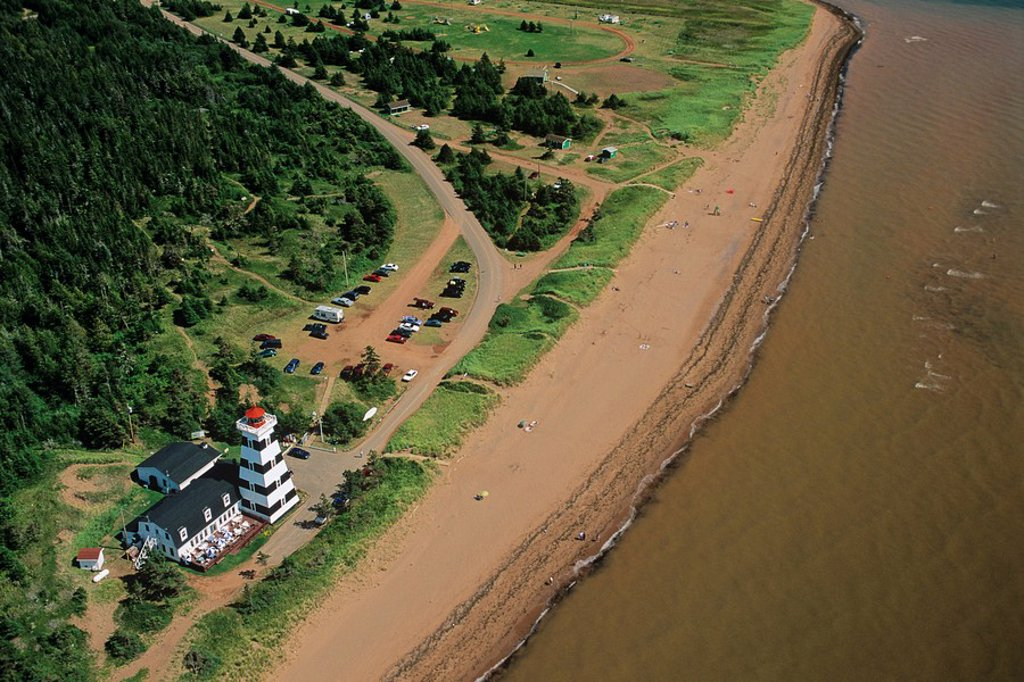 Stock Photo: 1990-4004 Aerial of West Point Prince Edward Island, Canada
