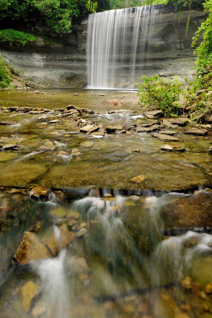 Bridal Veil Falls, Kagawong, Manitoulin Island, Ontario, Canada : Stock Photo