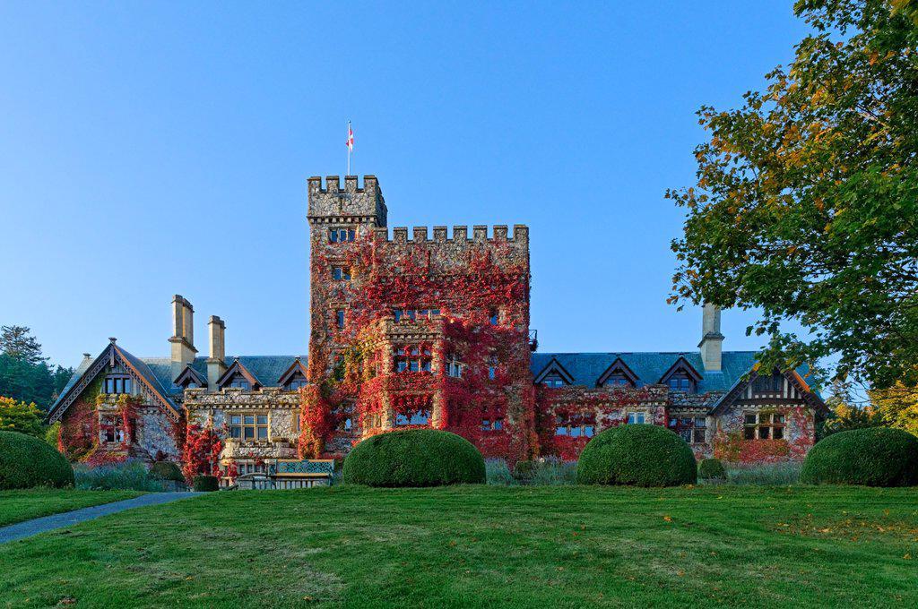 Hatley Castle, Hatley Park, Colwood, Victoria British Columbia, Canada : Stock Photo