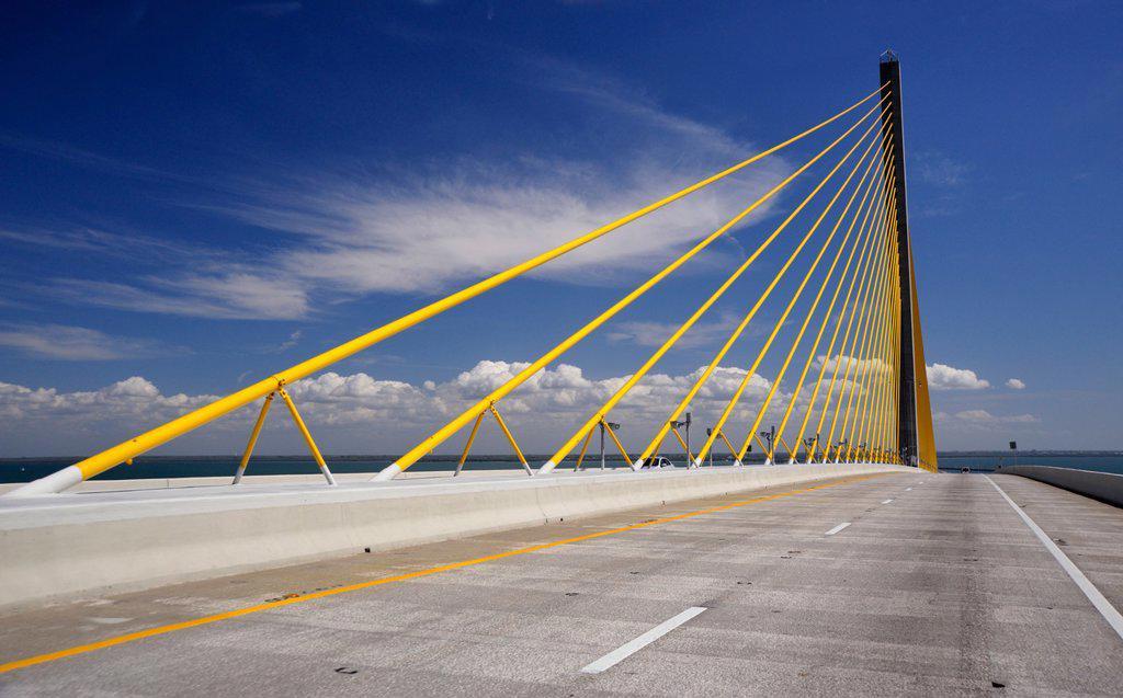 Stock Photo: 1990-42675 Bob Graham Sunshine Skyway Bridge, Florida, United States of America