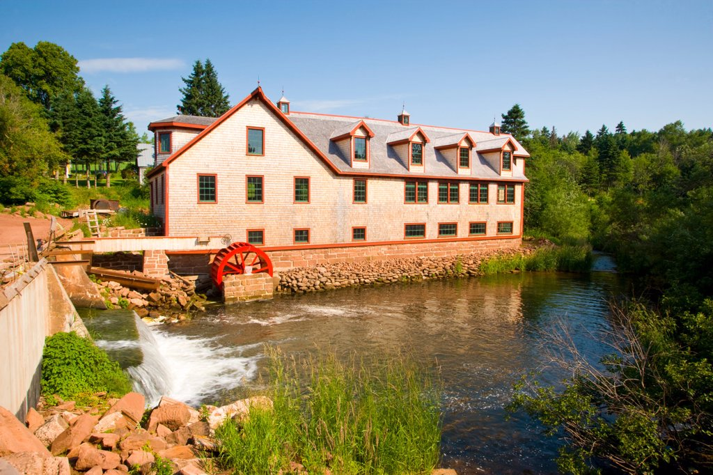 Stock Photo: 1990-44041 Bagnalls mill, Hunter River, Prince Edward Island, Canada