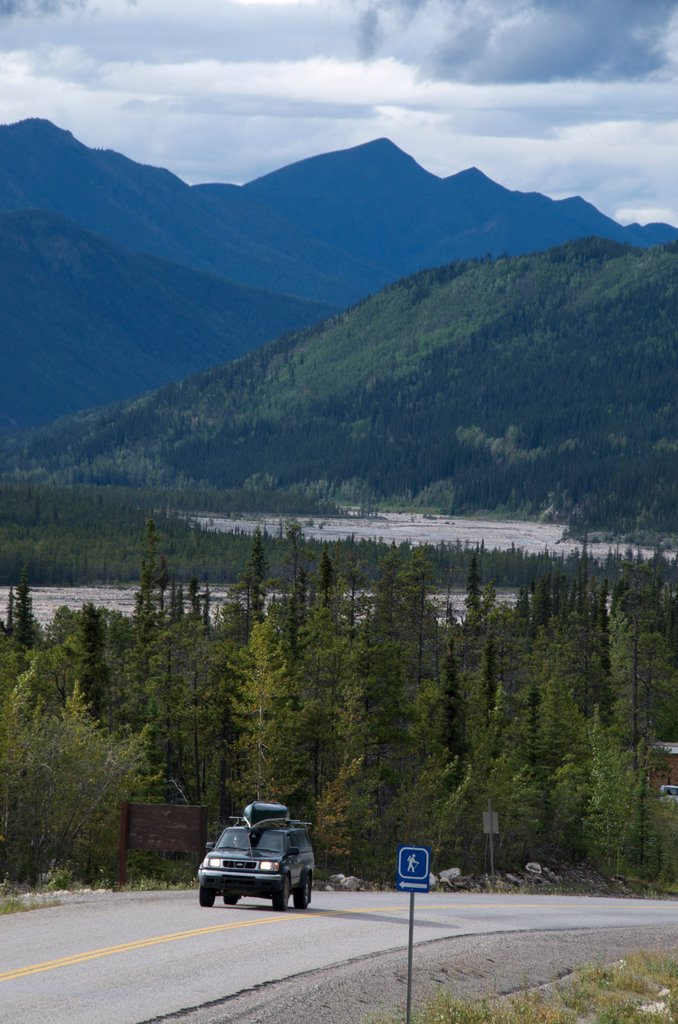 Alaska Highway in Stone Mountain Provincial Park, British Columbia, Canada : Stock Photo