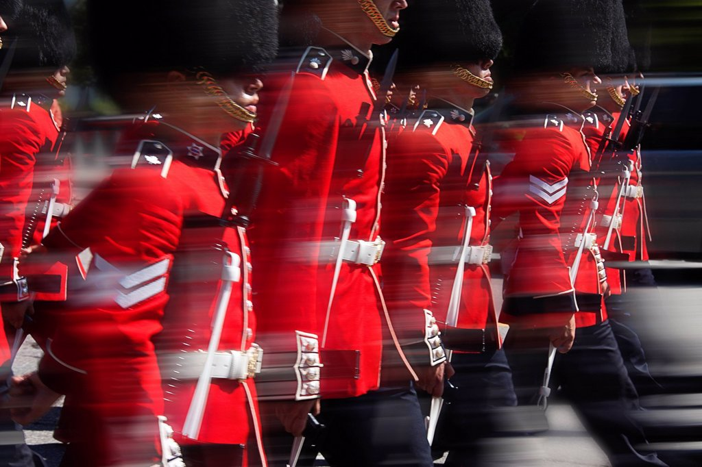 Stock Photo: 1990-45504 Changing of the Guard, Parliament Hill, Ottawa, Ontario, Canada