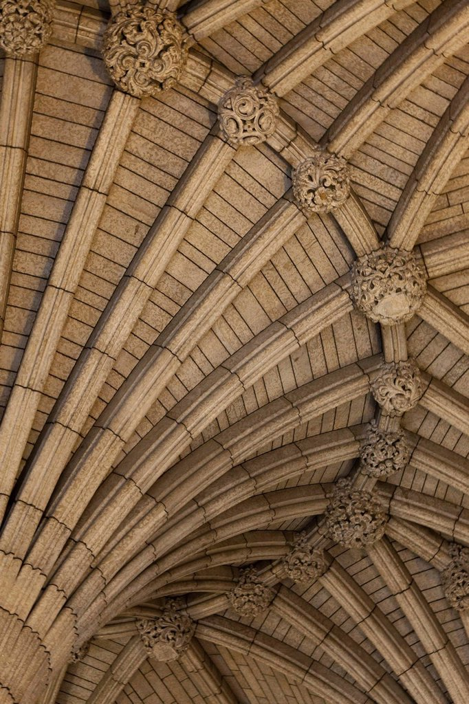 Stock Photo: 1990-45540 Vaulted Ceiling in the Centre Block in the Parliament Buildings, Ottawa, Ontario, Canada