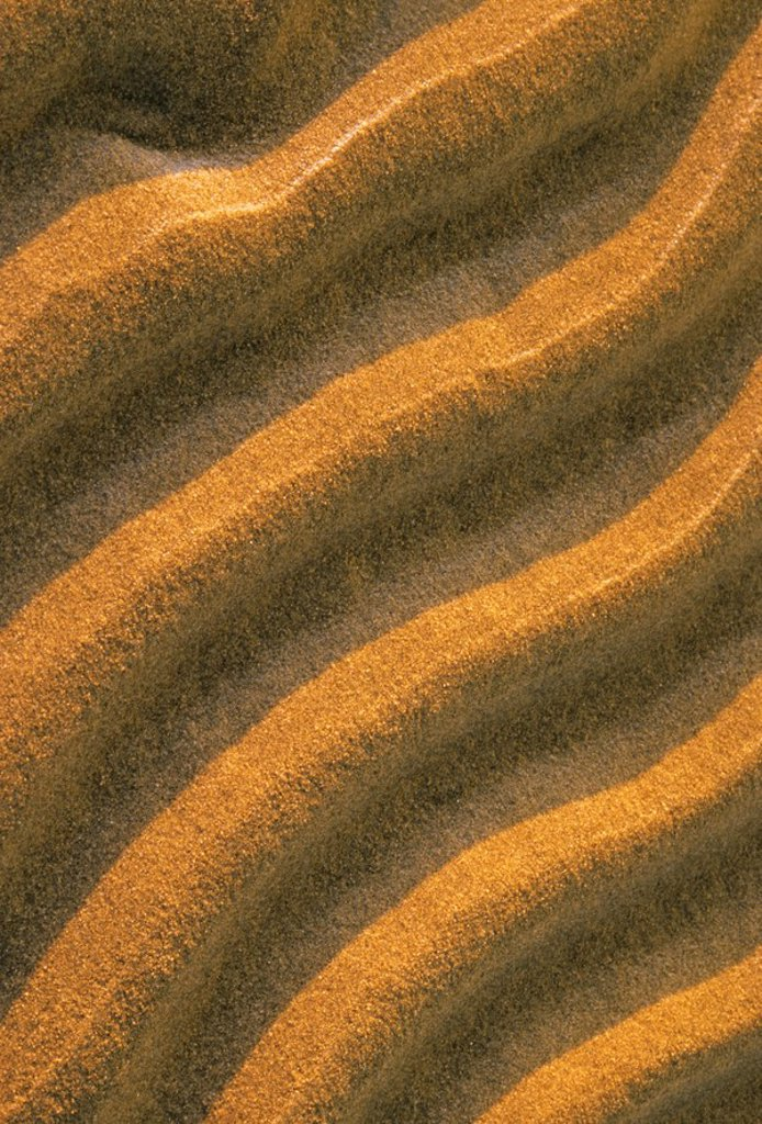 Ripples in the sand at Singing Sands also known as Dorcas Bay in Bruce Peninsula National Park, Ontario, Canada : Stock Photo
