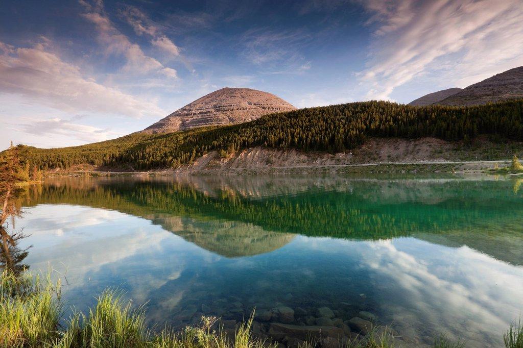 Summit Lake, Stone Mountain Provincial Park, British Columbia, Canada : Stock Photo