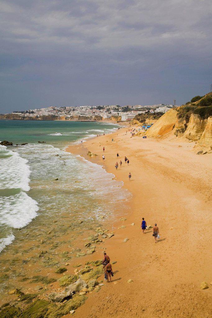 Stock Photo: 1990-48742 Beach at Albufeira in the Algarve region, Portugal, Europe