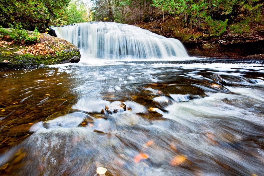 Henderson Shaw Falls, Henderson Settlement, Queens County, New Brunswick, Canada : Stock Photo
