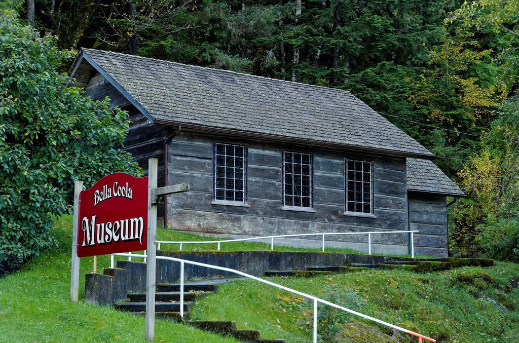 Stock Photo: 1990-50483 Bella Coola Museum, Bella Coola, British Columbia, Canada