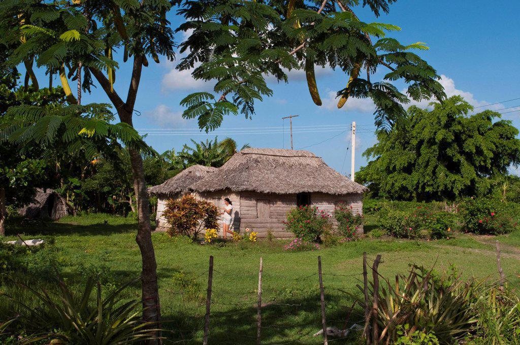 Stock Photo: 1990-52575 Small home in rural area near Holguin, Cuba
