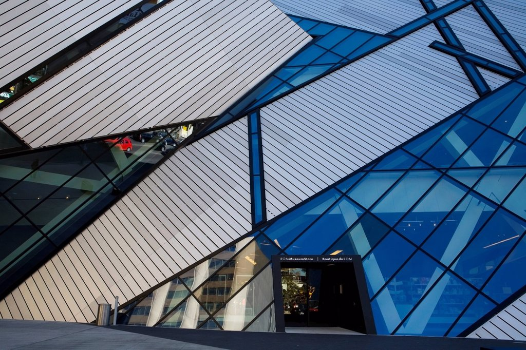 Michael Lee_Chin Crystal, Royal Ontario Museum, Toronto, Ontario, Canada : Stock Photo