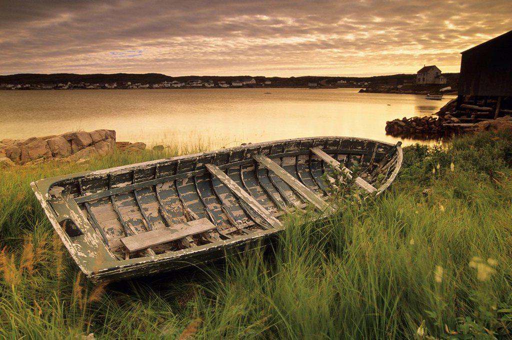 Joe Batt´s Arm, sunset  Fogo Island, Newfoundland and Labrador, Canada : Stock Photo