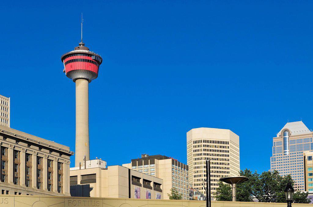 Stock Photo: 1990-58437 The Calgary Tower, Calgary, Alberta, Canada