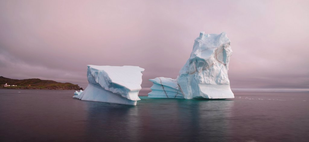 Stock Photo: 1990-58760 Iceberg off Goose Cove, Newfoundland, Canada