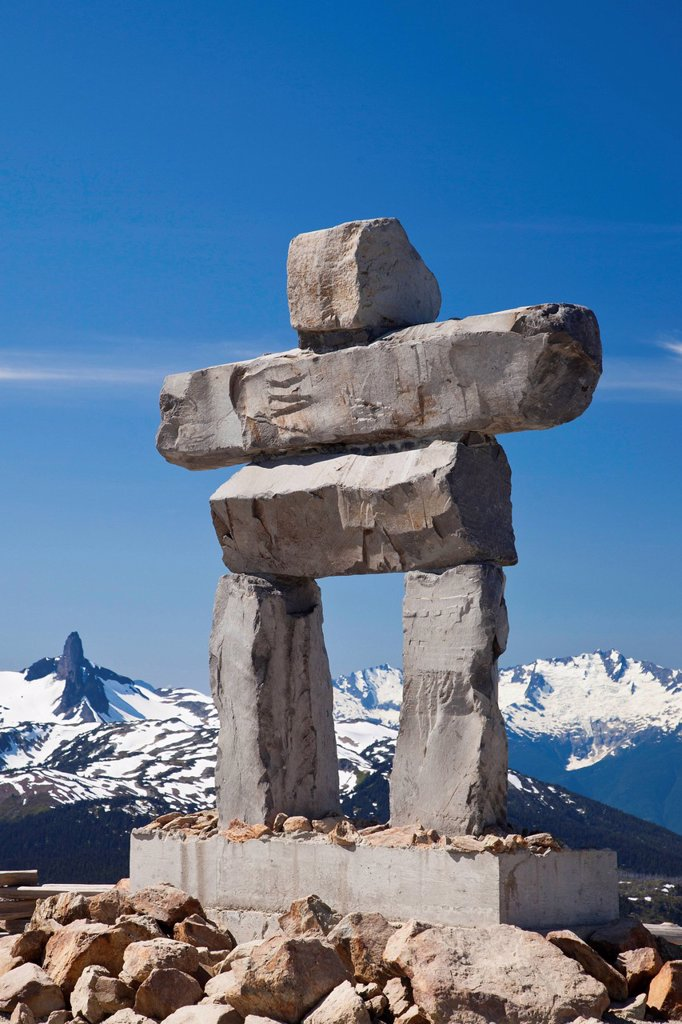Stock Photo: 1990-59971 Inukshuk, Whistler, British Columbia