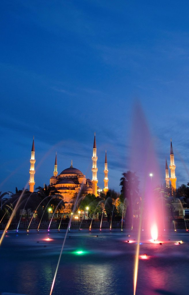 Sultan Ahmed Mosque Blue Mosque, Istanbul, Turkey : Stock Photo