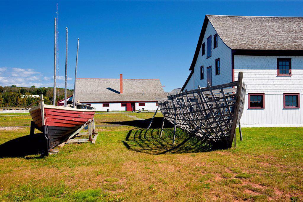 Stock Photo: 1990-62580 Banc_de_Pêche_de_Paspébiac Historical Site, Chaleur Bay, Gaspé, Quebec, Canada