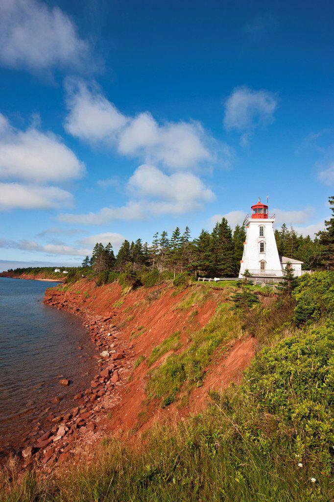 Stock Photo: 1990-62785 Cape Bear Lighthouse, Prince Edward Island, Canada