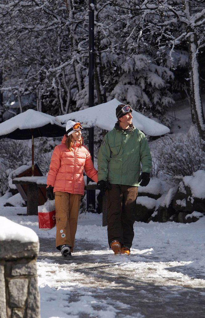 Whistler Village, Whistler, British Columbia, Canada : Stock Photo