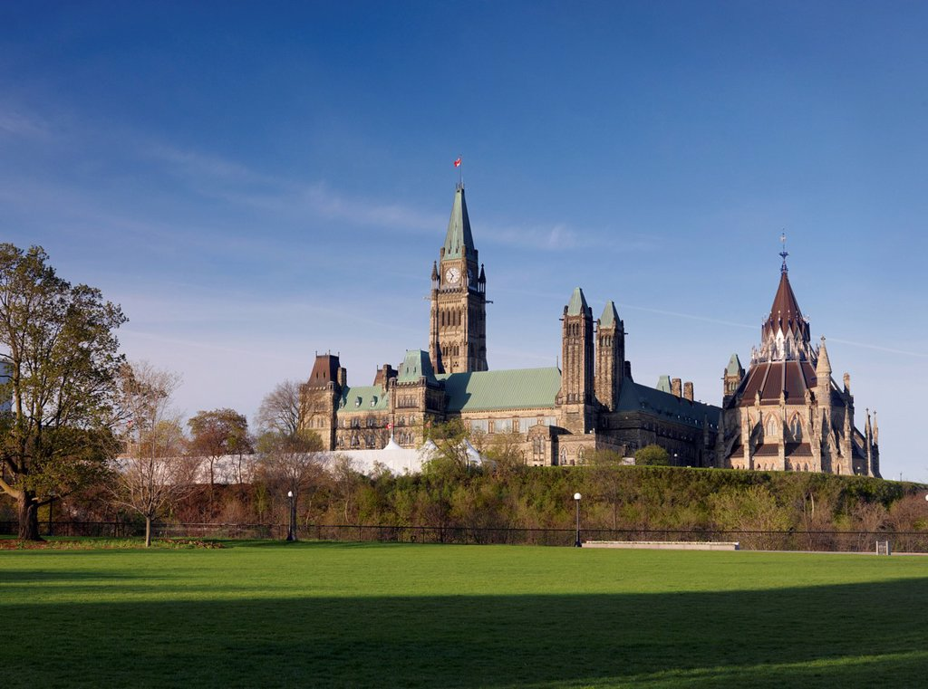 Stock Photo: 1990-64324 The Parliament Building in Ottawa, Ontario, Canada May 2012
