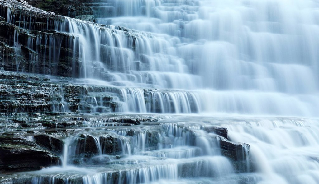 Albion Falls, Cascade waterfall. Hamilton Ontario Canada. : Stock Photo