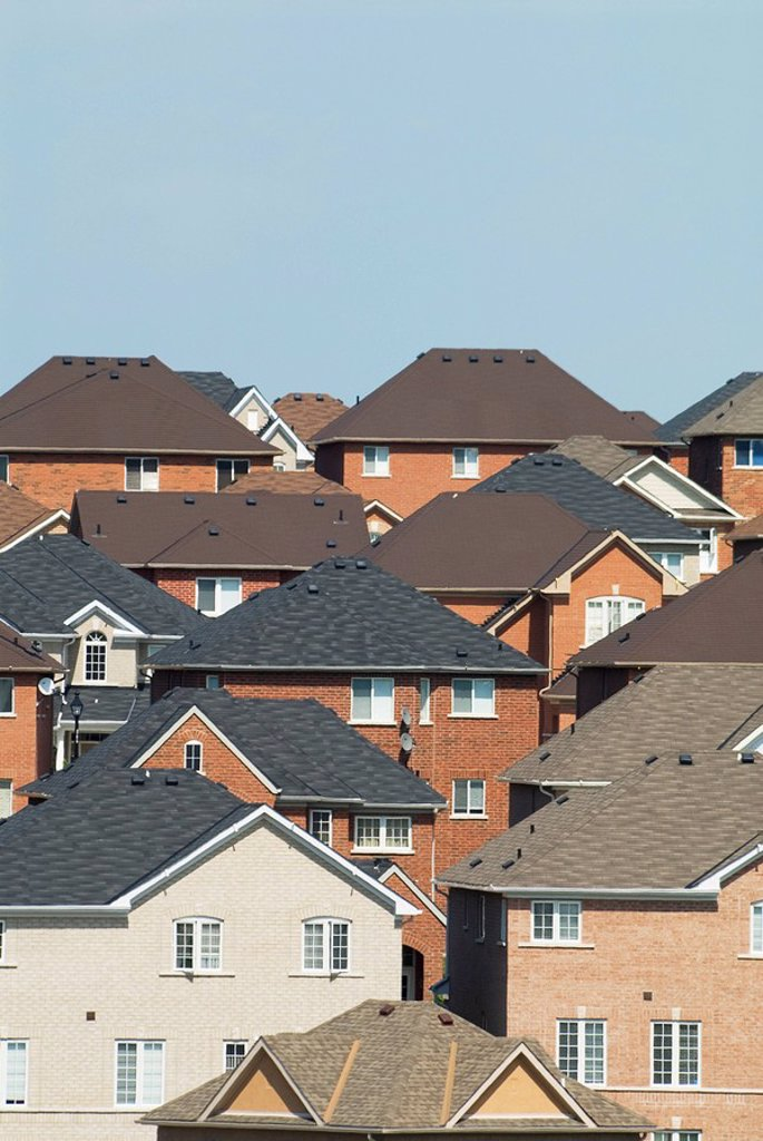 Subdivision rooftops in Newmarket, Ontario, Canada : Stock Photo