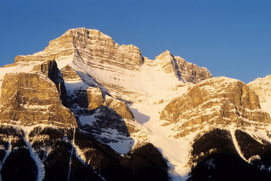 Mt  Rundle, Canadian Rockies, Canmore, Alberta, Canada : Stock Photo