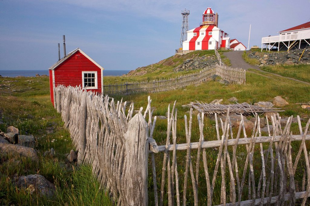 Cape Bonavista Lighthouse, built in 1843 and officially opened as a National Historic Site on August 9, 1978, Bonavista Peninsula, Bonavista Bay, Discovery Trail, Newfoundland & Labrador, Canada : Stock Photo