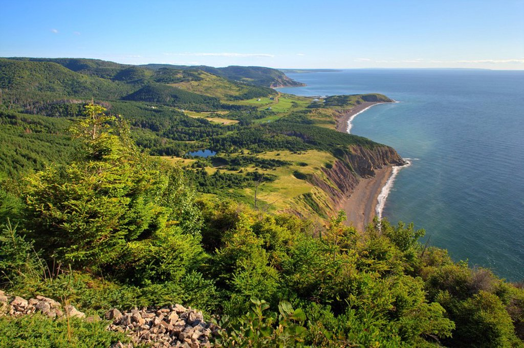 Stock Photo: 1990-9281 Beinn Alasdair Bhain Fair Alistair´s Mtn Lookoff Cape Mabou Highlighlands Cape Breton Nova Scotia, Canada