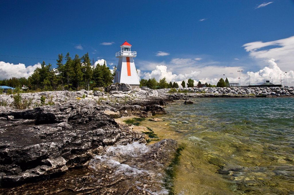 Lighthouse at South Baymouth, Manitoulin Island, Ontario, Canada : Stock Photo