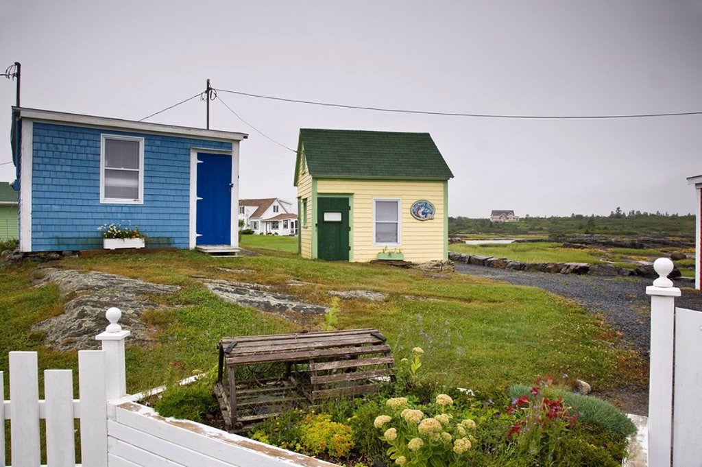 Stock Photo: 1990-9679 Fishers Point near Lunenburg, Nova Scotia, Canada