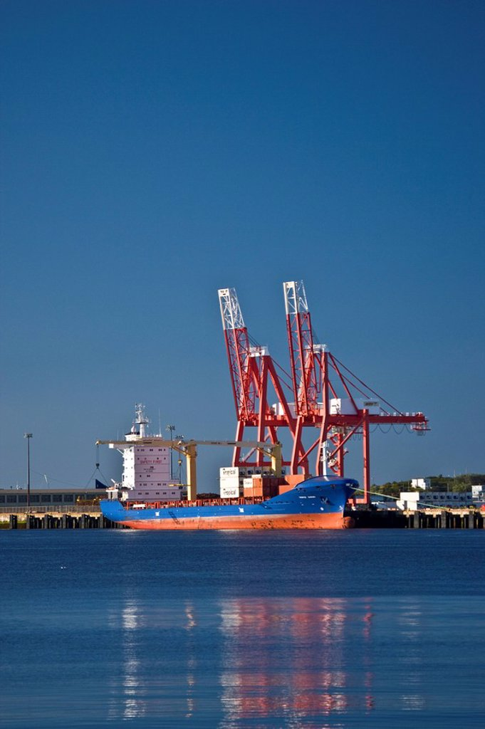 Stock Photo: 1990-9702 Container port at Saint John, New Brunswick, Canada