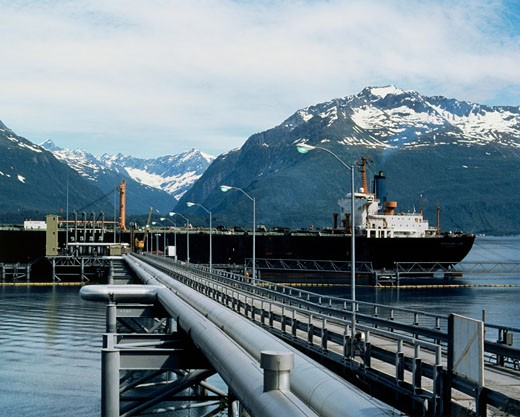 Stock Photo: 200-1063A Pipeline, Alaska, USA