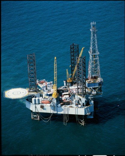 Stock Photo: 200-805C Offshore Oil Rig