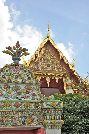 Architectural details of a temple, Wat Pho, Phra Nakhon District, Bangkok, Thailand : Stock Photo