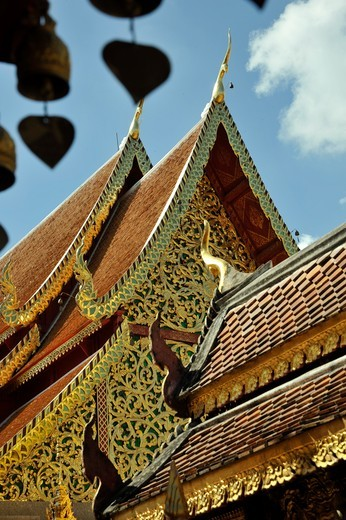 Stock Photo: 2003-602557 Architectural details of a Buddhist temple, Wat Phrathat Doi Suthep, Chiang Mai, Thailand