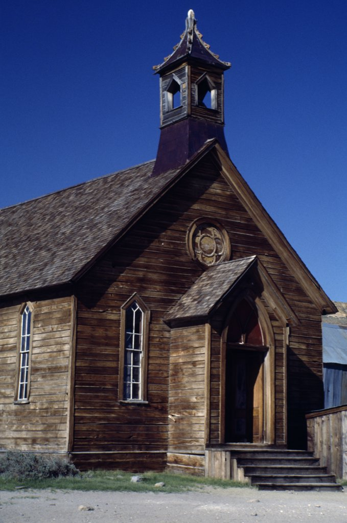 Stock Photo: 2005-1558 Methodist Church  Bodie State Historic Park California USA