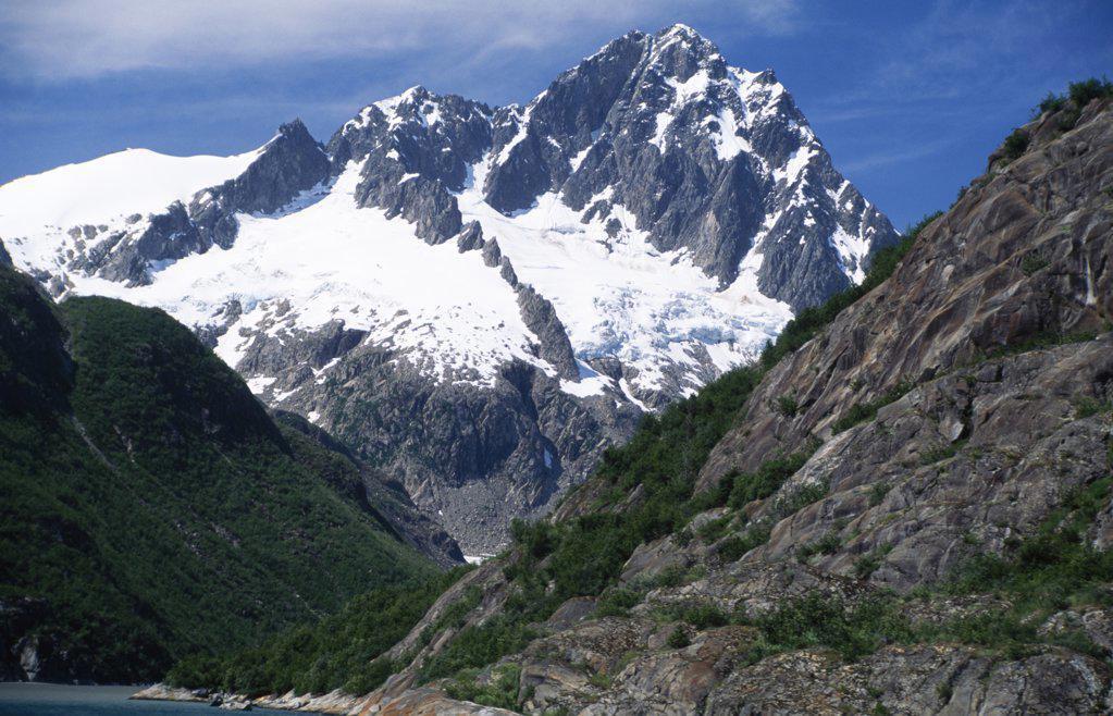 Kenai Mountains Kenai Fjords National Park Alaska USA : Stock Photo