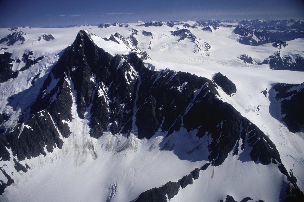 Stock Photo: 2005-1712 Harding Ice Field Kenai Fjords National Park Alaska  USA