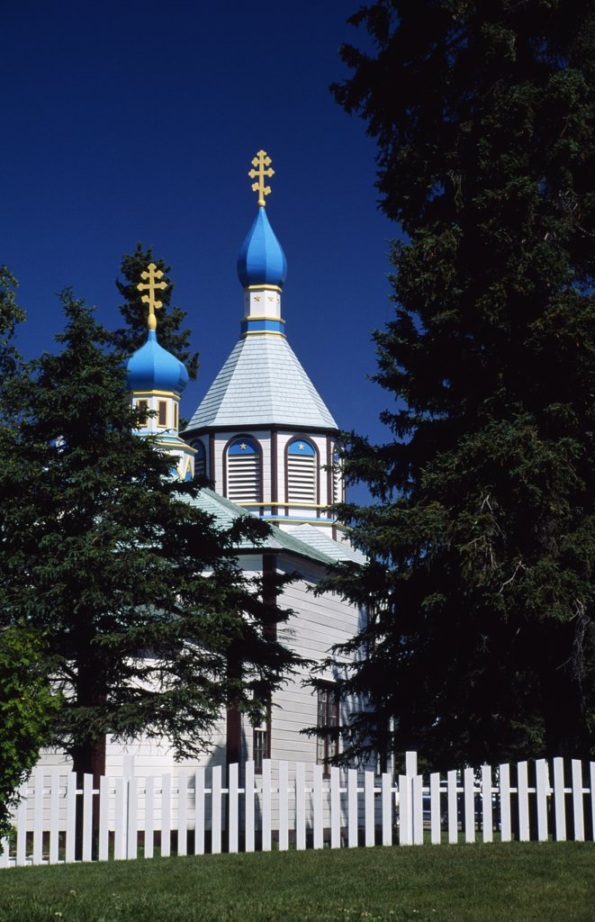 Holy Assumption Russian Orthodox Church kenai, Alaska, USA : Stock Photo