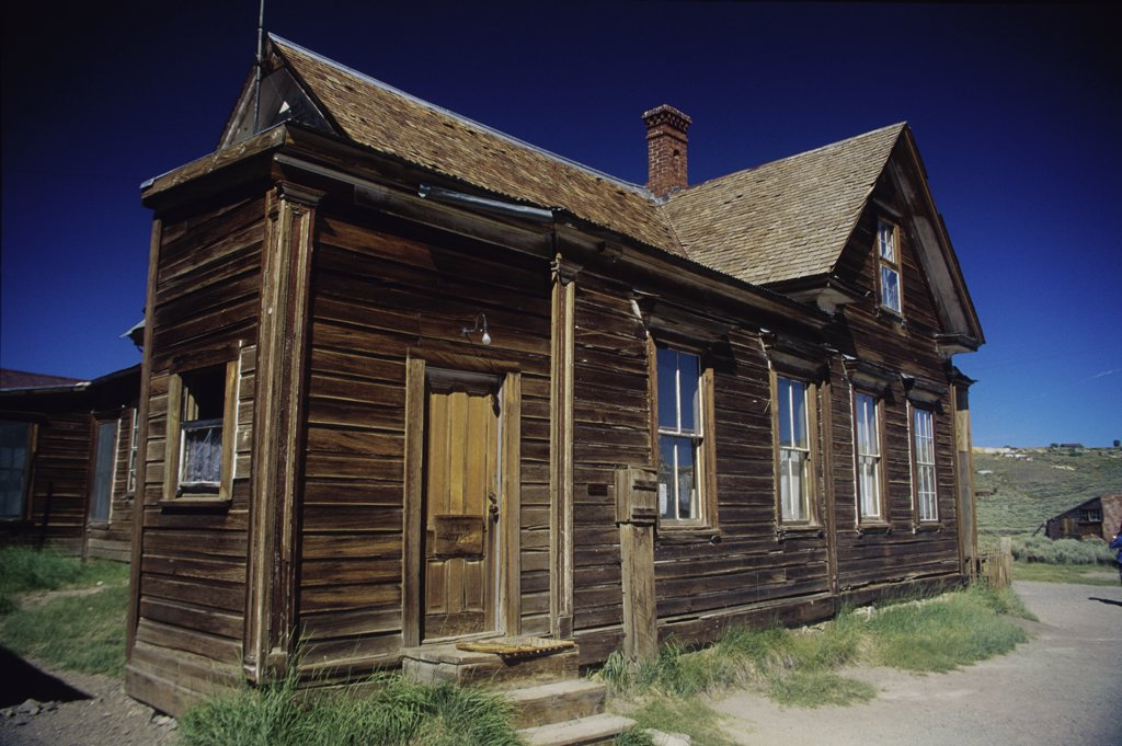 Stock Photo: 2005-1882 Facade of a building at Bodie State Historic Park, California, USA