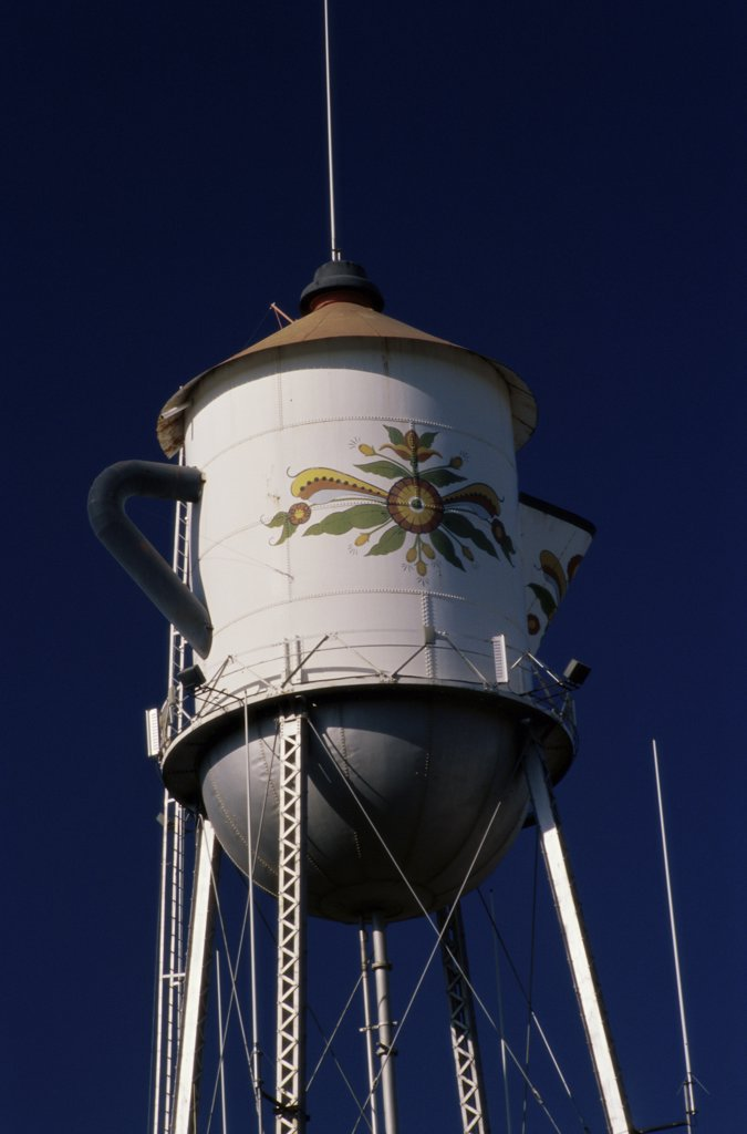 Stock Photo: 2005-2056 Low angle view of a storage tank, Kingsburg, California, USA