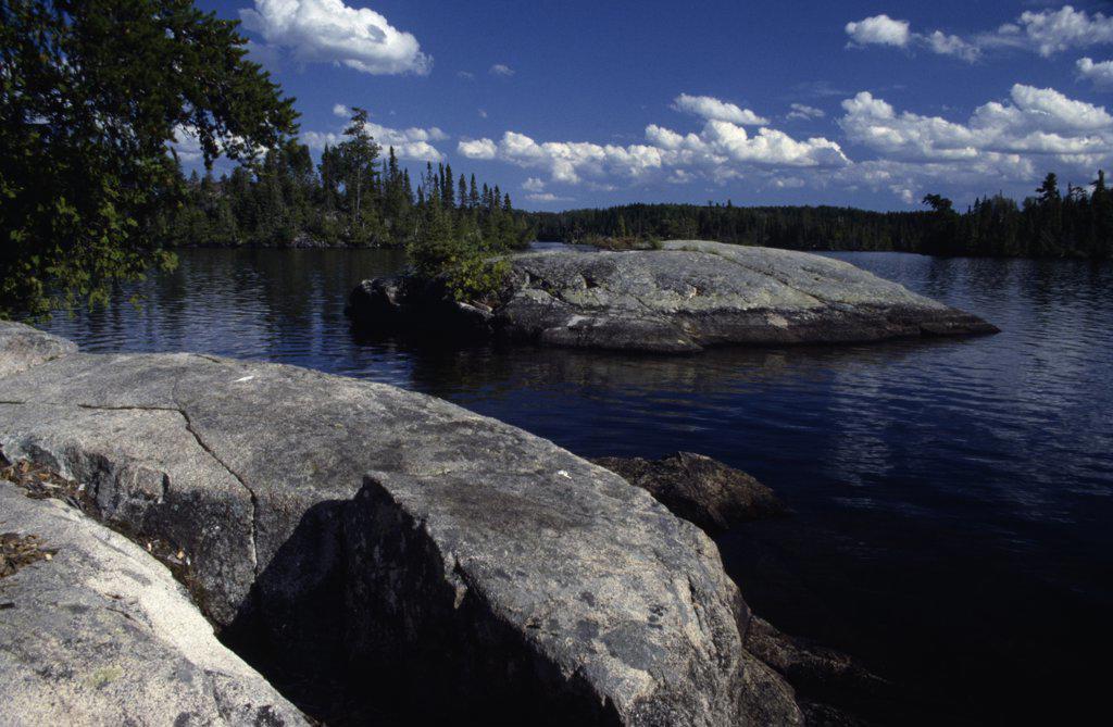 Stock Photo: 2005-549B Alpine Lake Minnesota USA