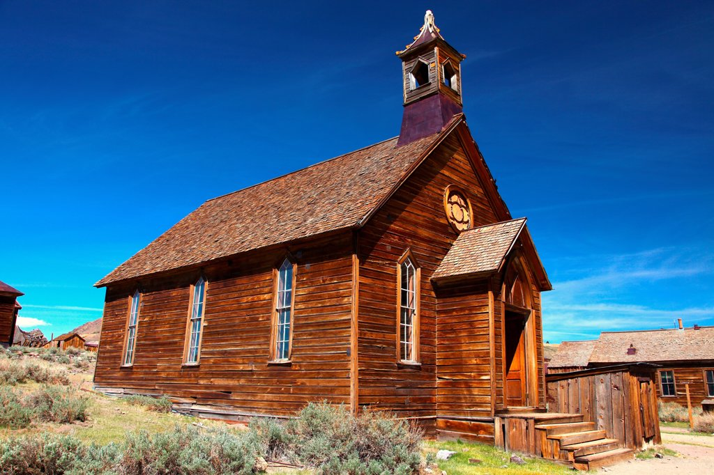 Stock Photo: 2005-595099 USA, California, Sierra Nevada, Bodie Ghost Town State Historical Park, Church