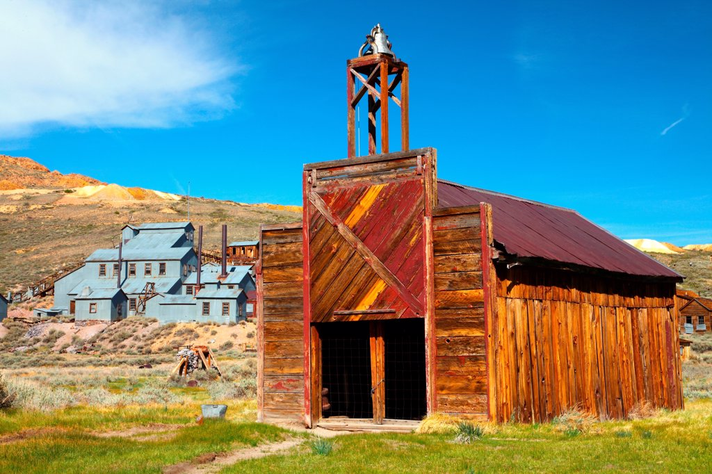 Stock Photo: 2005-595107 USA, California, Sierra Nevada, Bodie Ghost Town State Historical Park, Firehouse