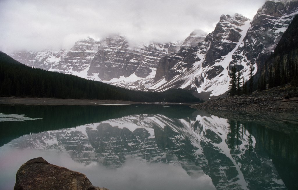Stock Photo: 2005-904C Moraine Lake Valley of Ten Peaks Banff National Park Alberta Canada