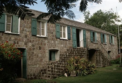 Alexander Hamilton Birthplace Charlestown Saint Kitts and Nevis : Stock Photo